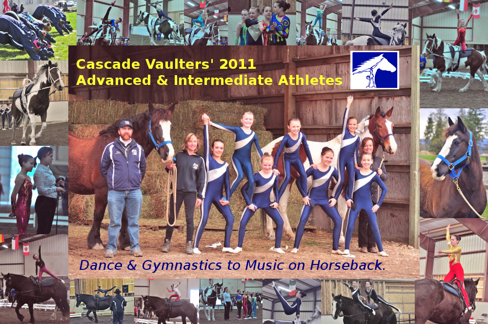 Cascade Vaulters' 2011 Advanced & Intermediate Athletes
